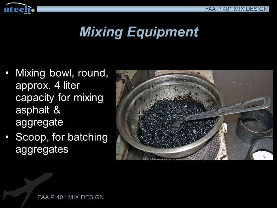 Mixing Equipment Mixing bowl, round, approx. 4 liter capacity for mixing asphalt & aggregate.