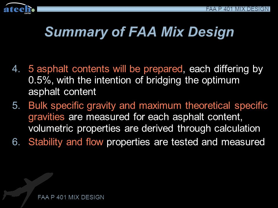 Summary of FAA Mix Design