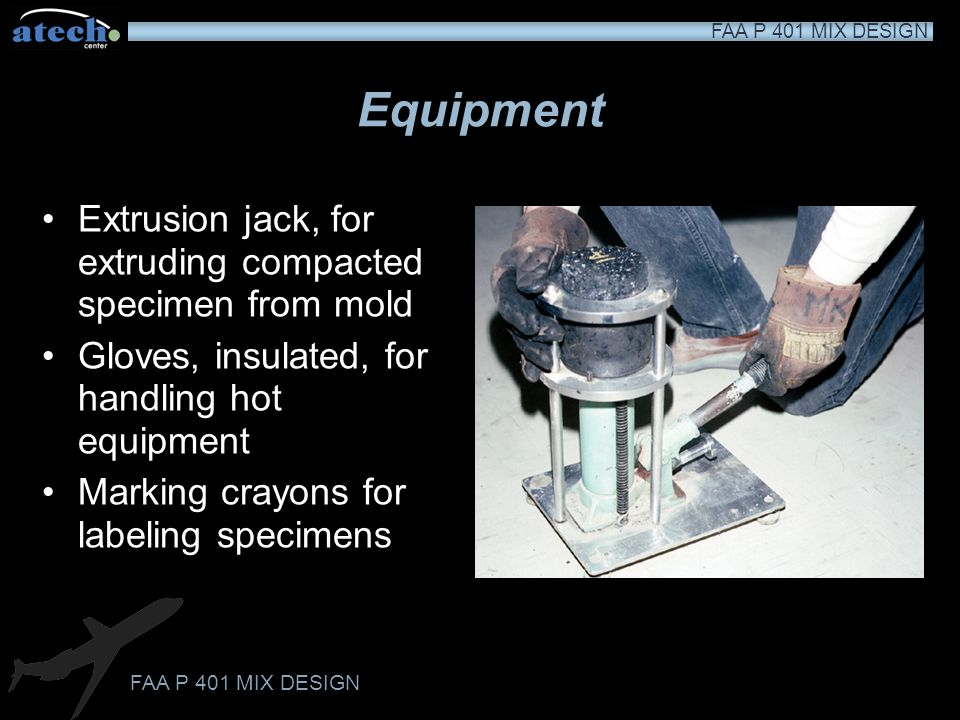 Equipment Extrusion jack, for extruding compacted specimen from mold