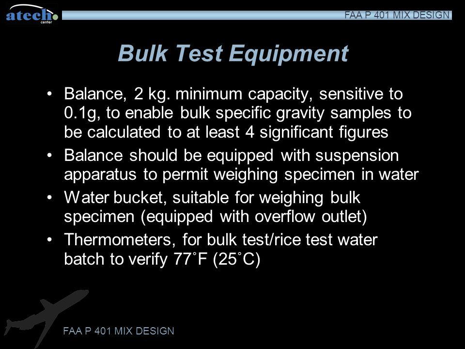 Bulk Test Equipment
