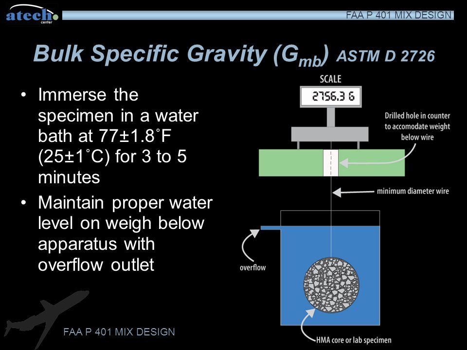 Bulk Specific Gravity (Gmb) ASTM D 2726
