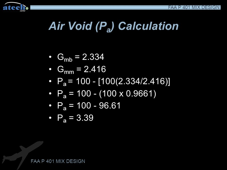 Air Void (Pa) Calculation