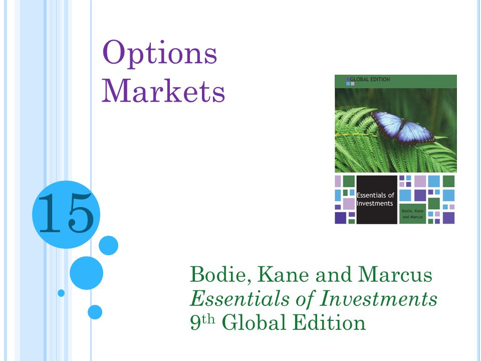 15 Options Markets Bodie, Kane and Marcus