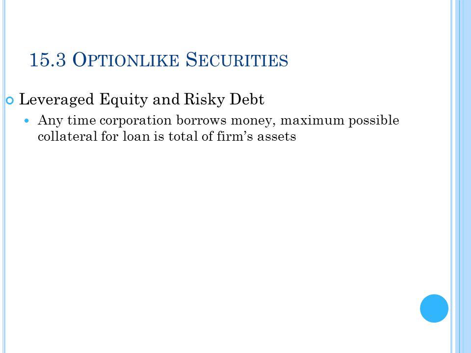 15.3 Optionlike Securities