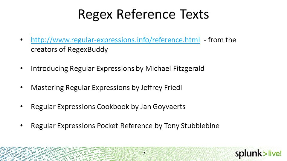 Regex Reference Texts http://www.regular-expressions.info/reference.html - from the creators of RegexBuddy.