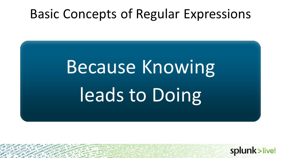 Basic Concepts of Regular Expressions
