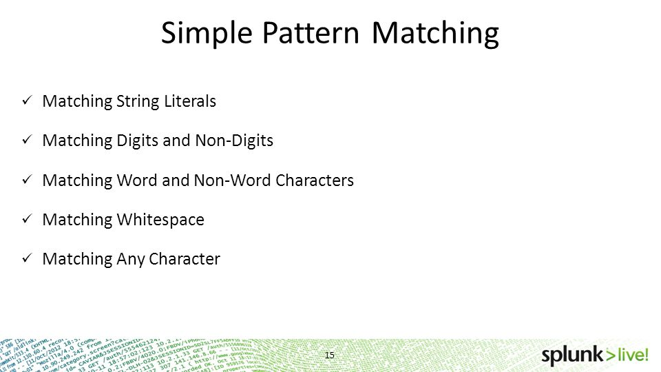 Simple Pattern Matching