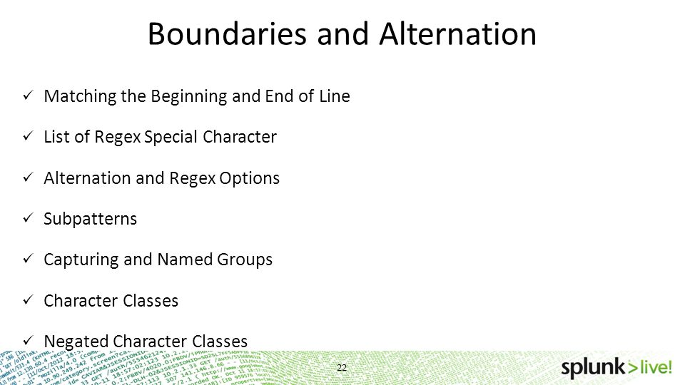 Boundaries and Alternation