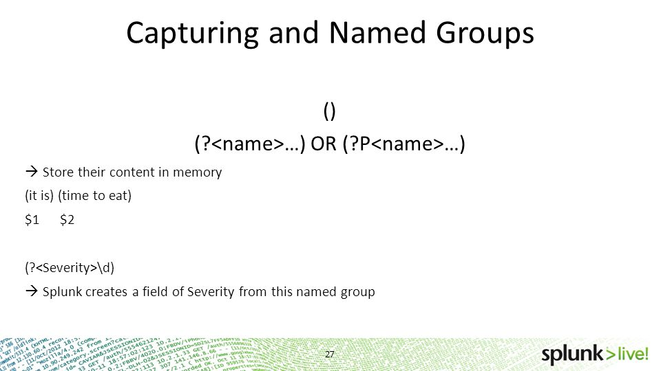 Capturing and Named Groups