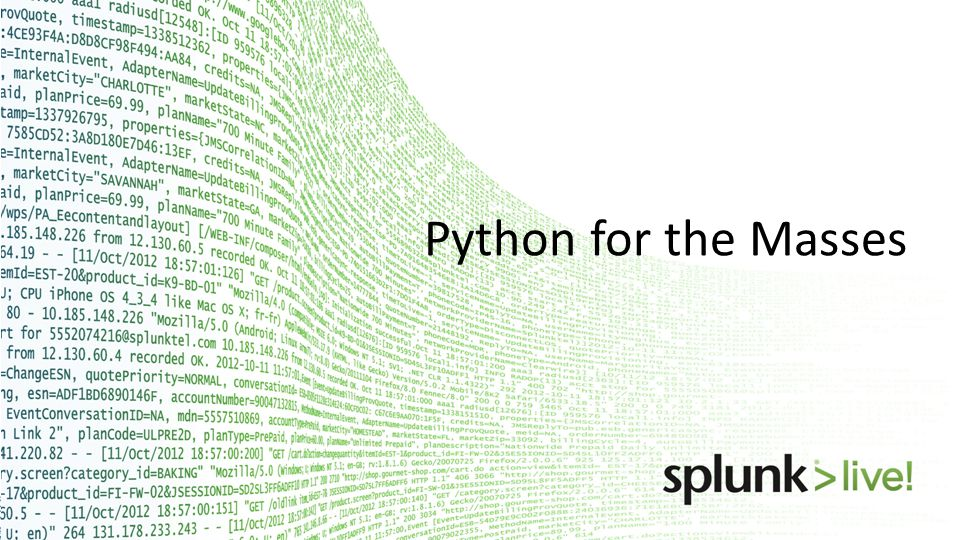 Python for the Masses