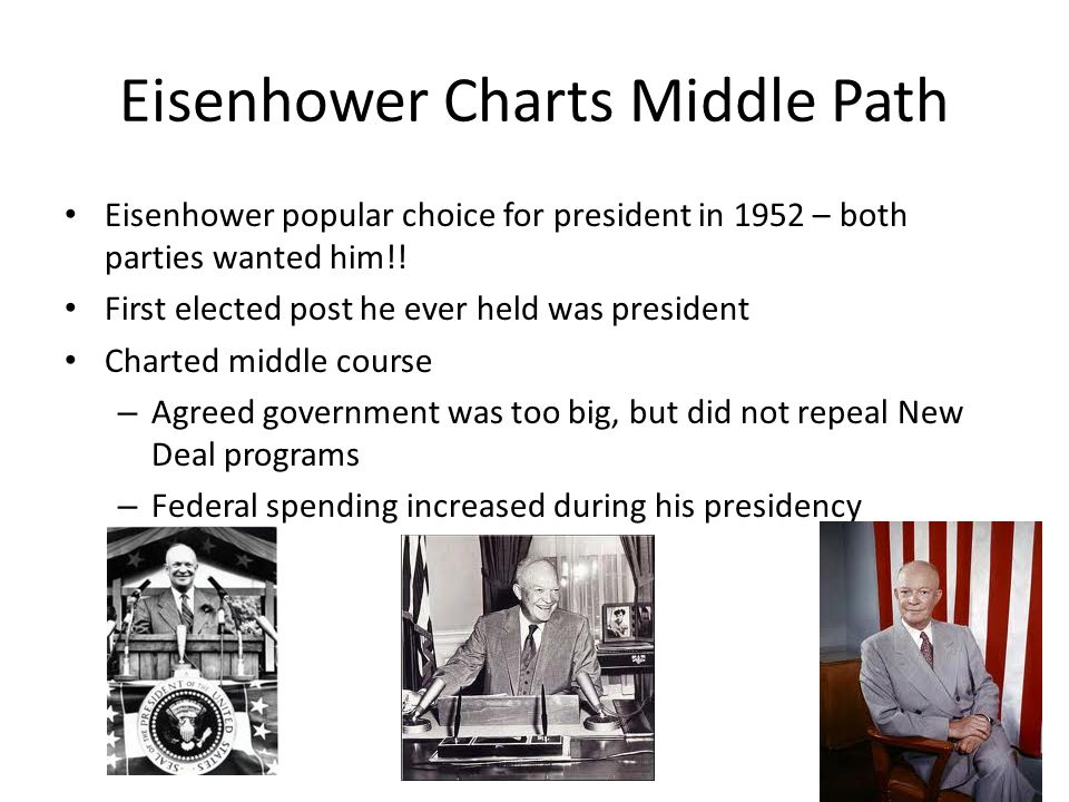 Eisenhower Charts Middle Path