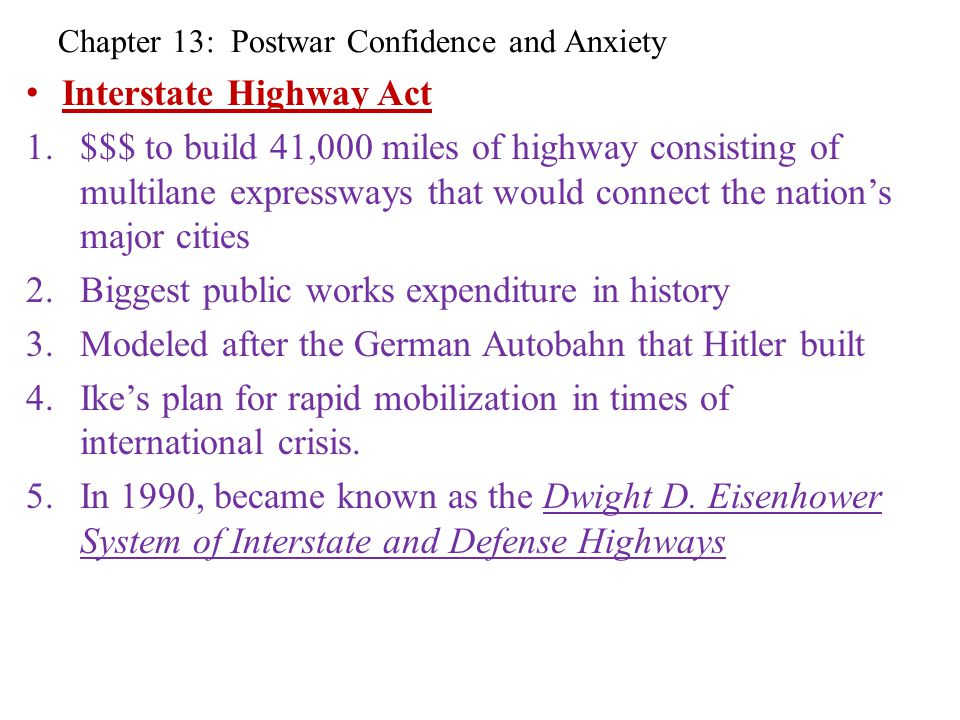 Chapter 13: Postwar Confidence and Anxiety