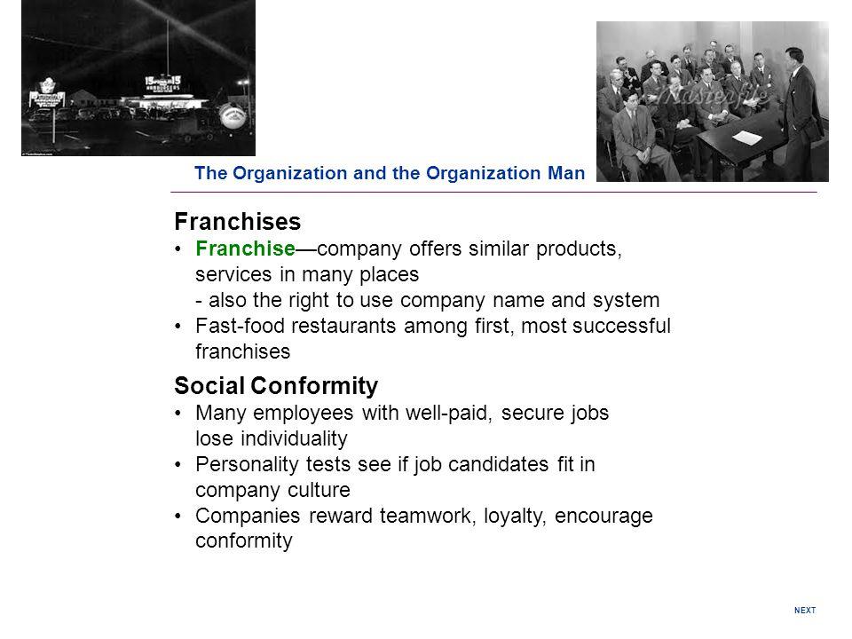 Franchises Social Conformity