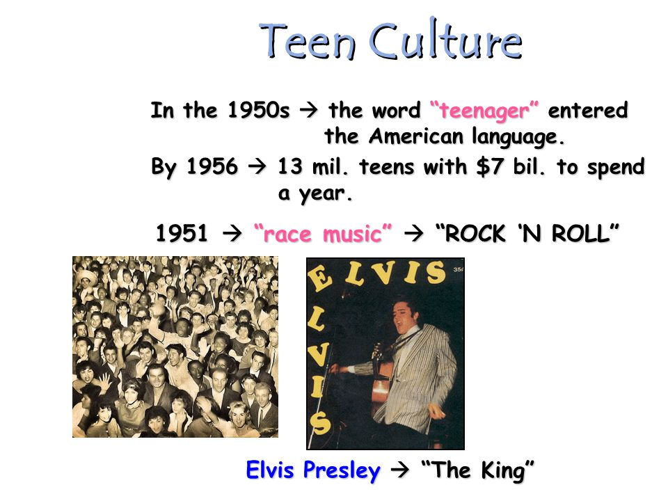 1951  race music  ROCK 'N ROLL Elvis Presley  The King
