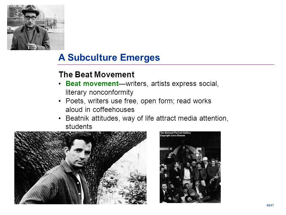 A Subculture Emerges The Beat Movement