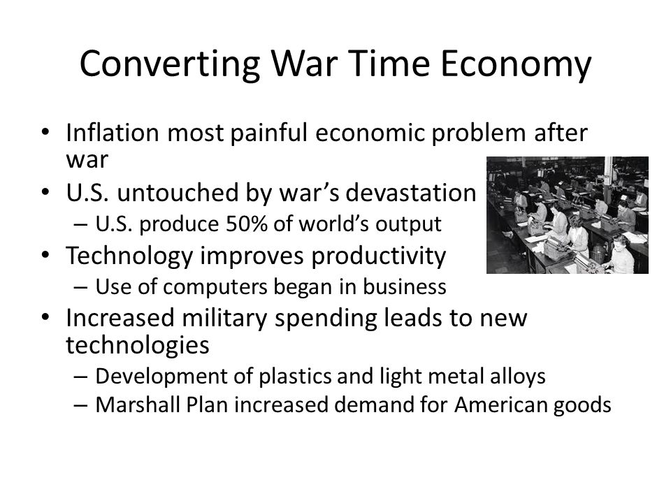 Converting War Time Economy