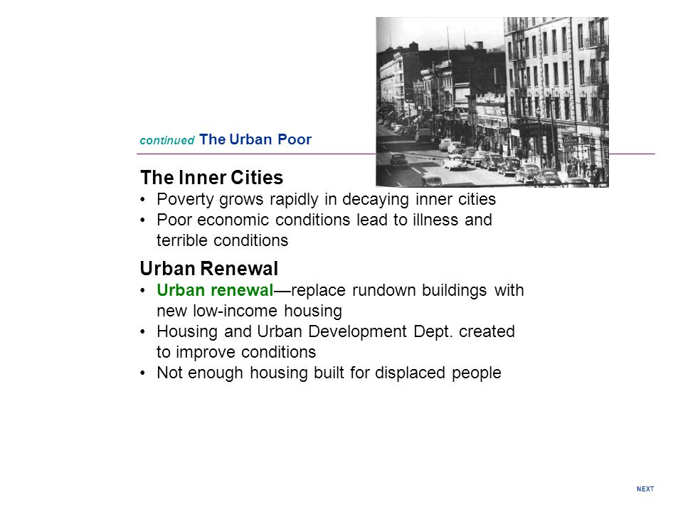 The Inner Cities Urban Renewal