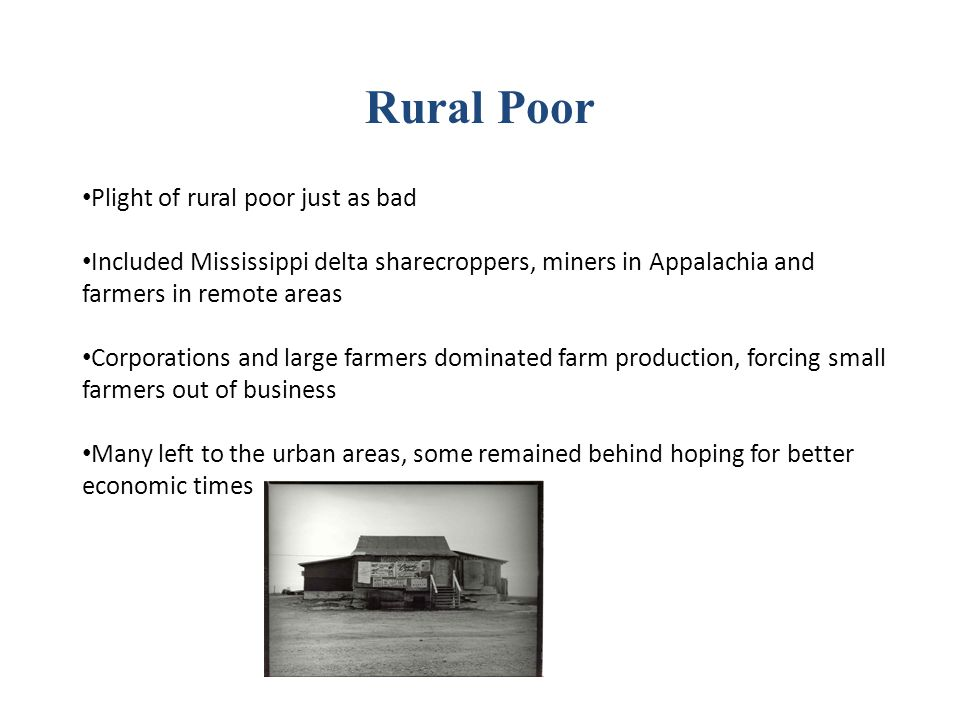 Rural Poor Plight of rural poor just as bad