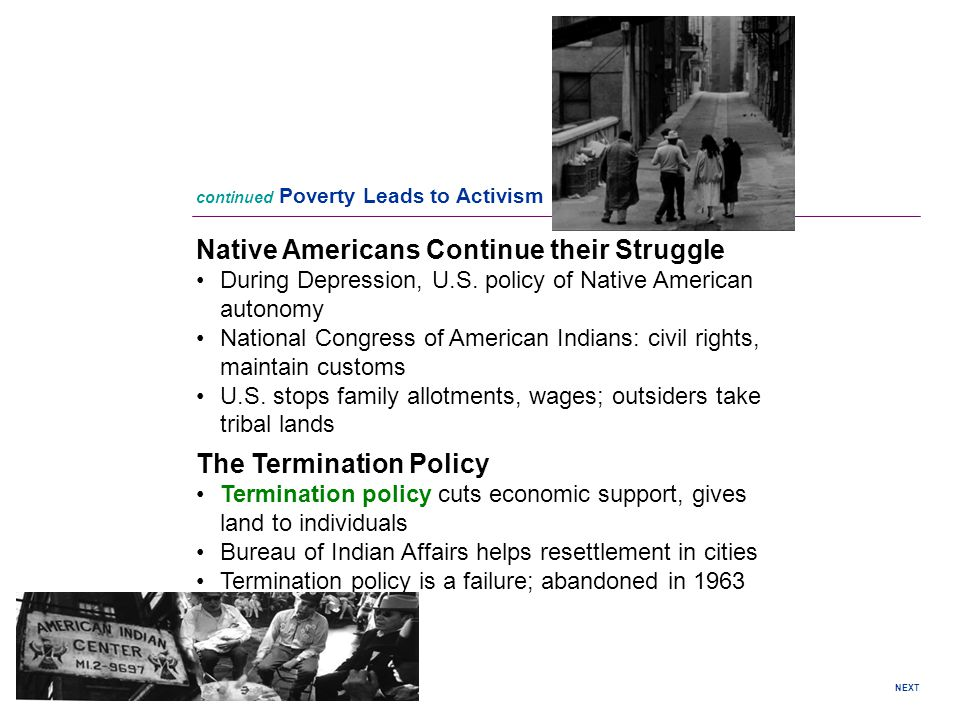 Native Americans Continue their Struggle