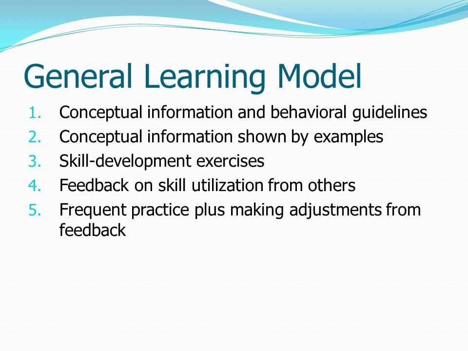 General Learning Model
