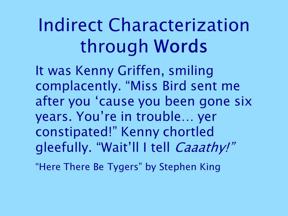 Indirect Characterization through Words