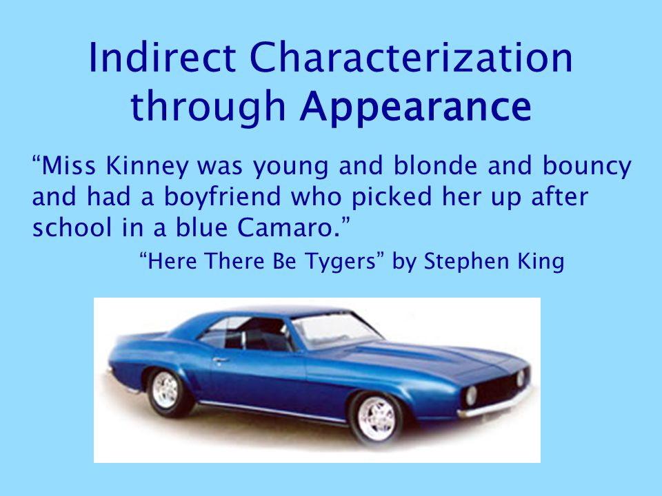 Indirect Characterization through Appearance