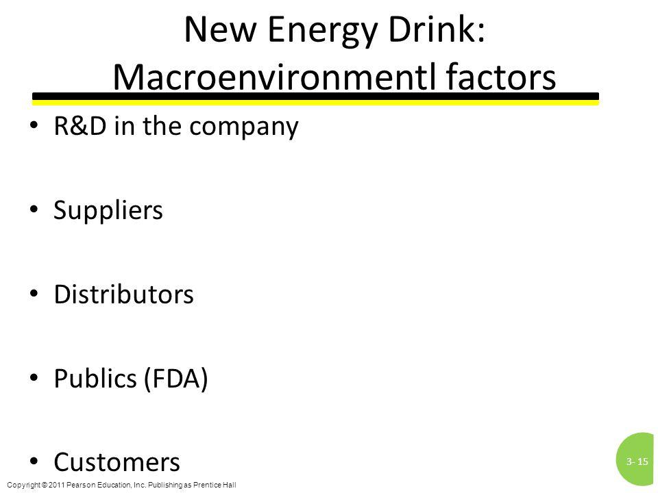 New Energy Drink: Macroenvironmentl factors
