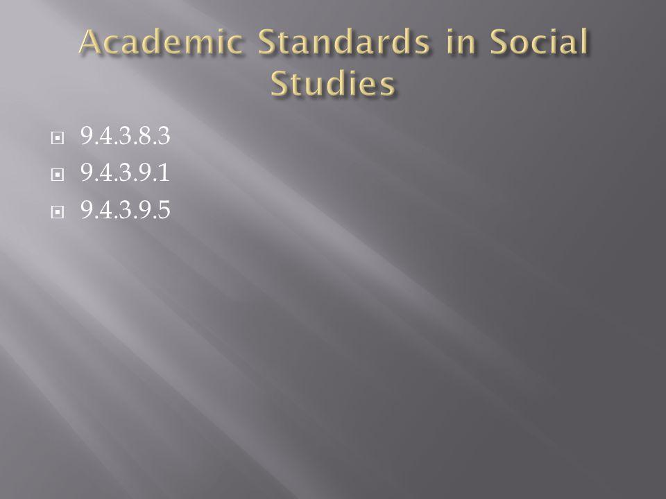 Academic Standards in Social Studies
