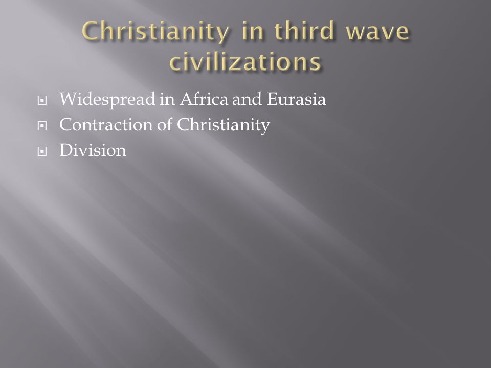 Christianity in third wave civilizations