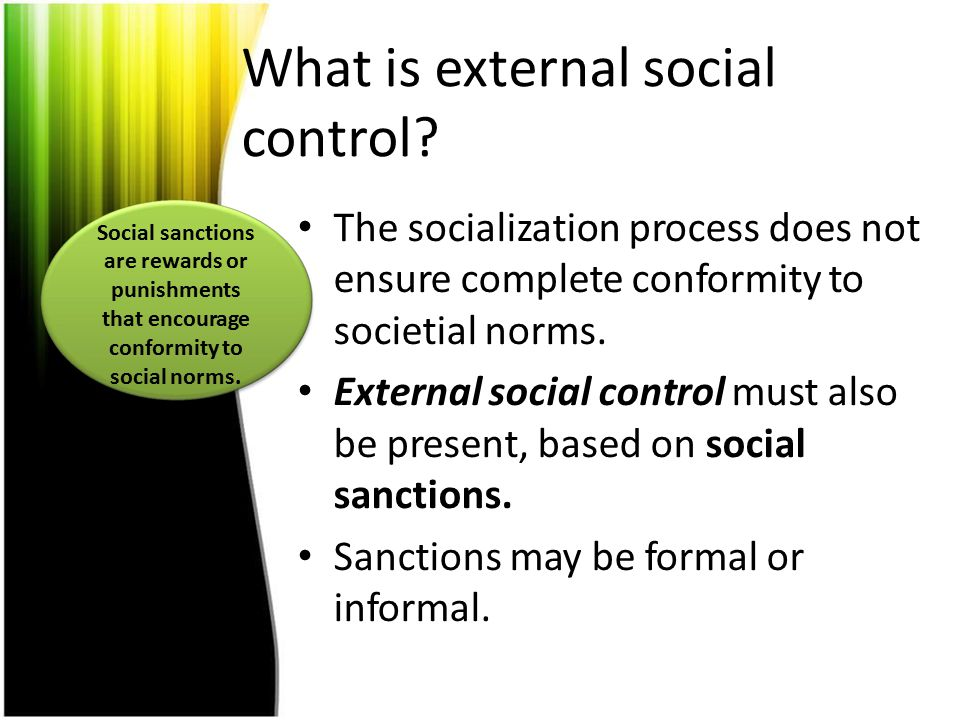 What is external social control