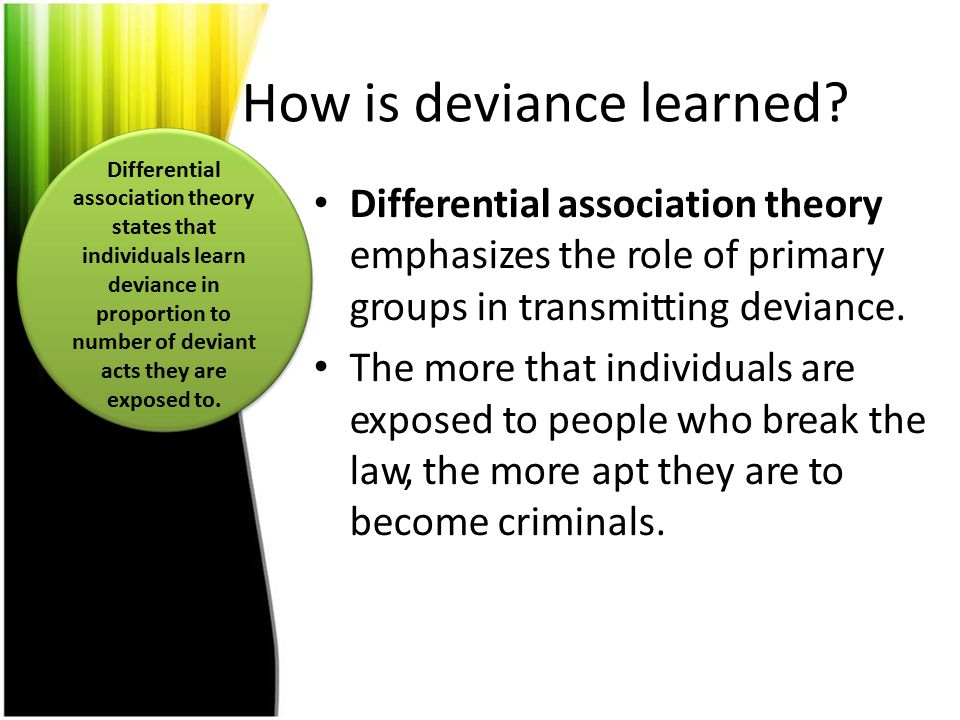 How is deviance learned