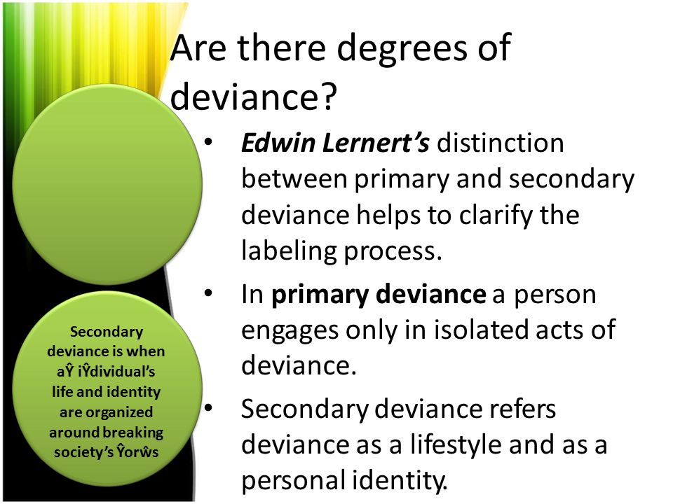 Are there degrees of deviance