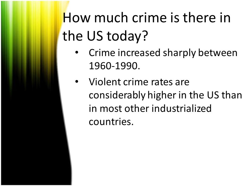 How much crime is there in the US today