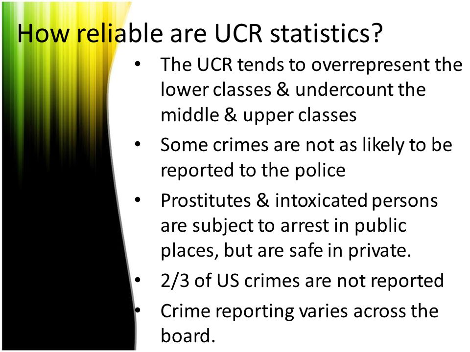 How reliable are UCR statistics