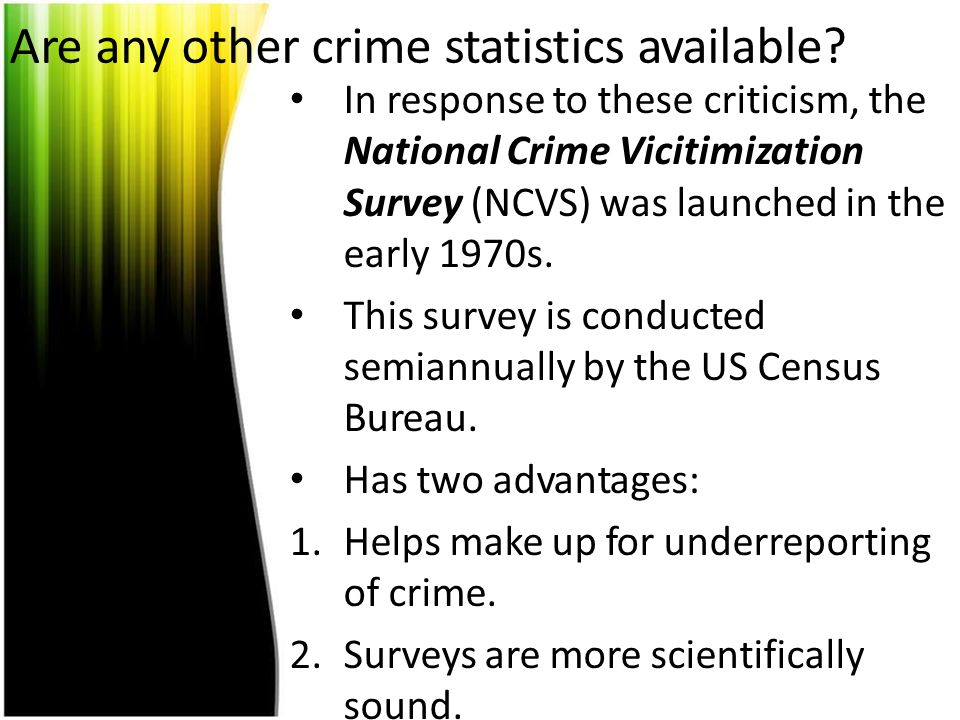 Are any other crime statistics available