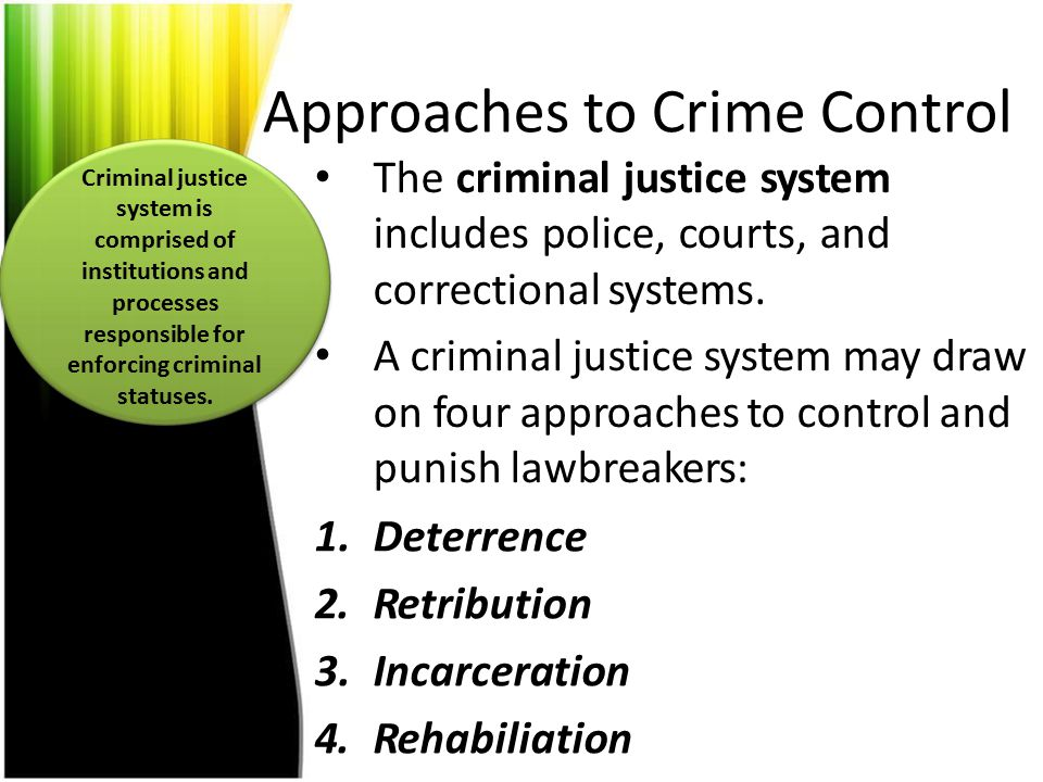 Approaches to Crime Control
