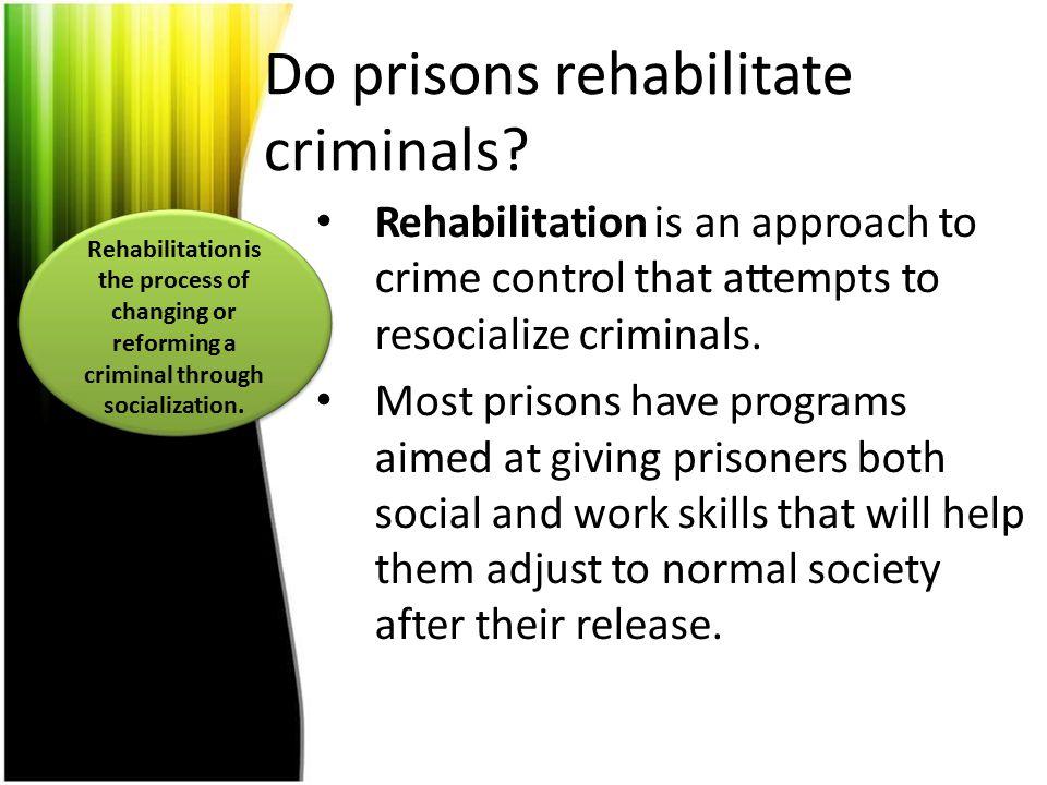 Do prisons rehabilitate criminals