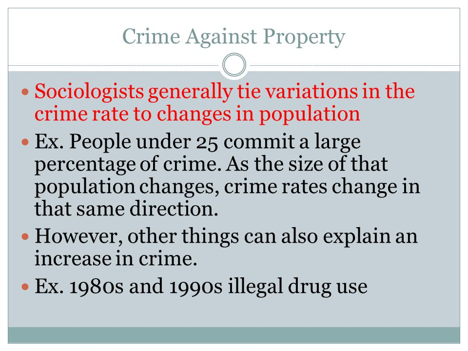 Crime Against Property