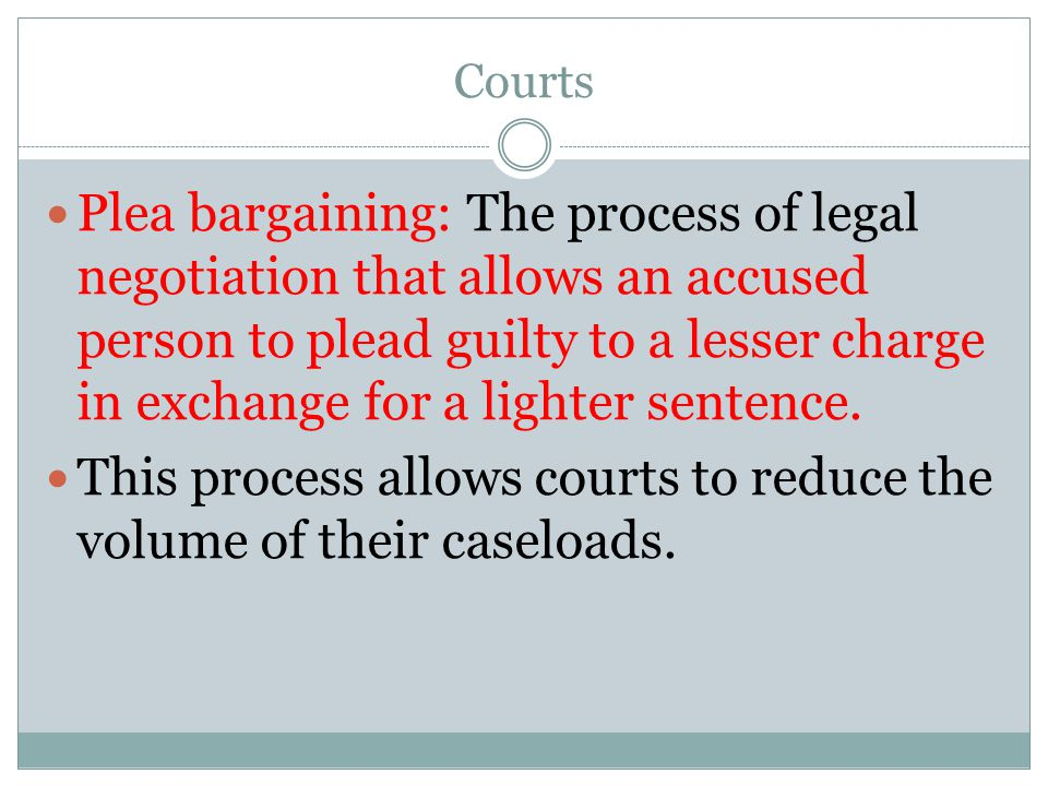 This process allows courts to reduce the volume of their caseloads.
