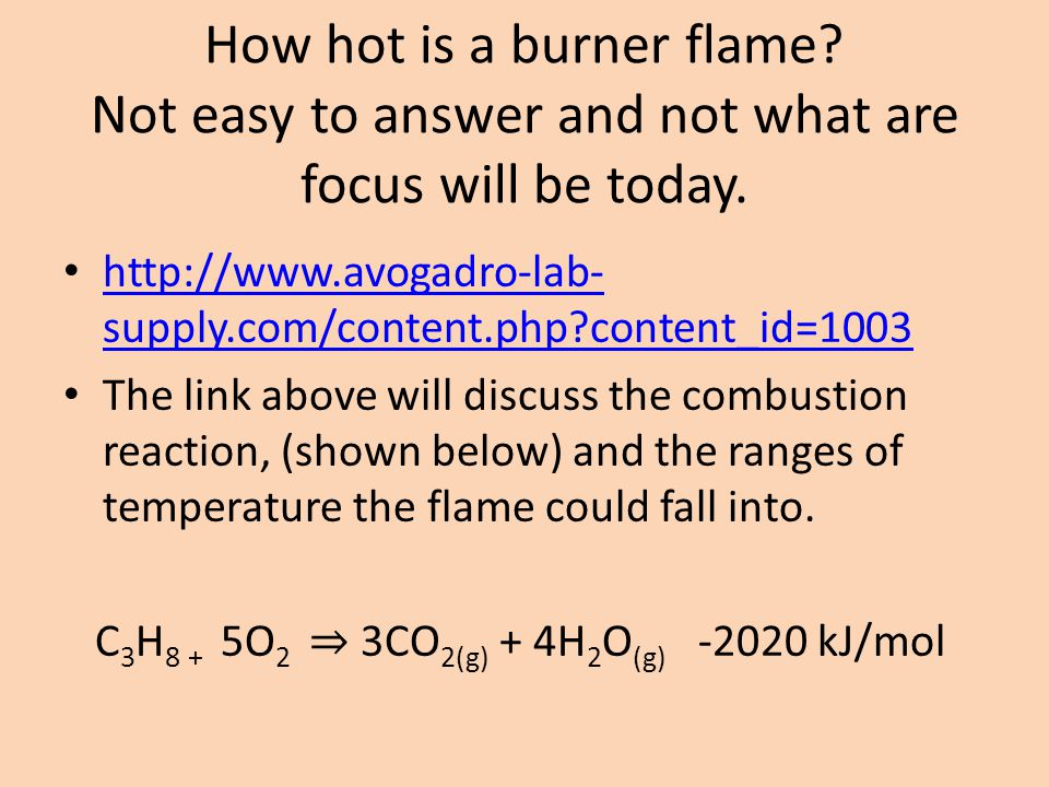 How hot is a burner flame