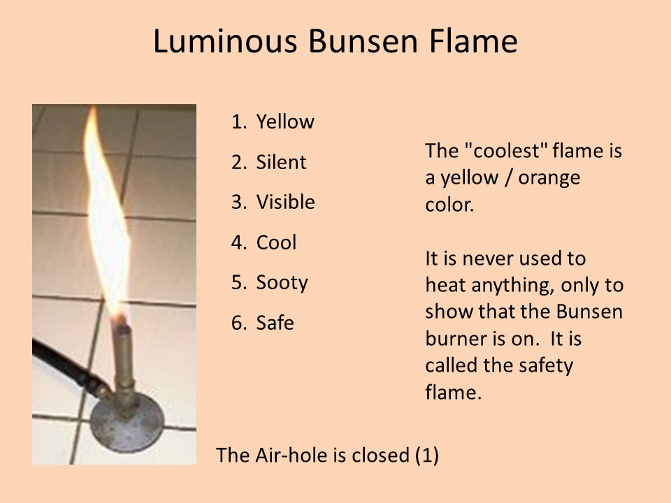 Luminous Bunsen Flame Yellow Silent