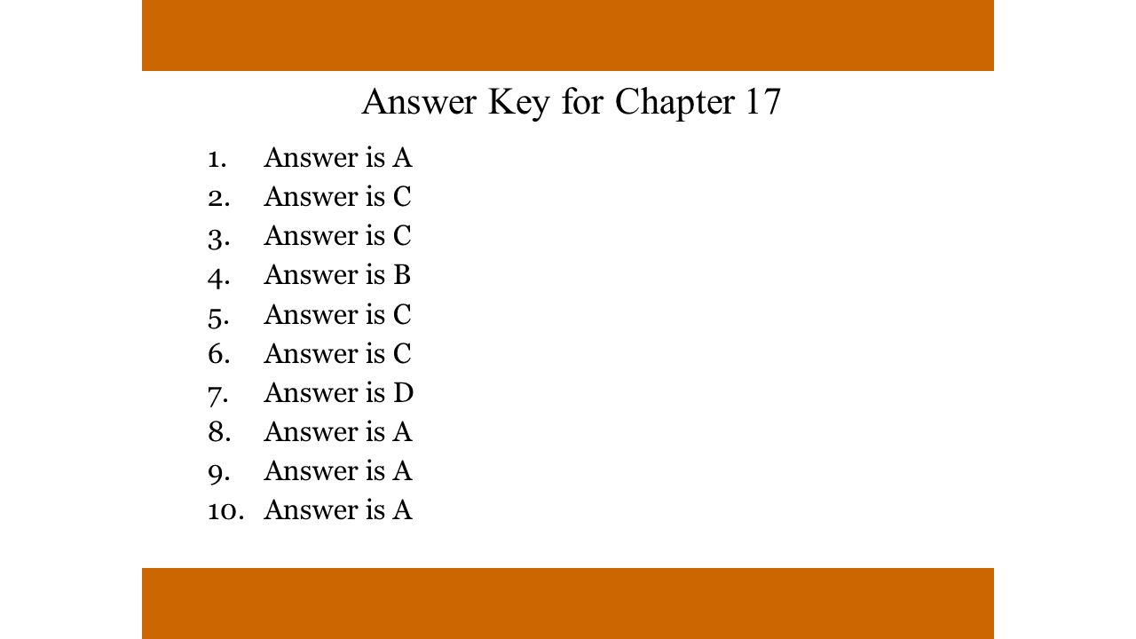 Answer is A Answer is C Answer is B Answer is D