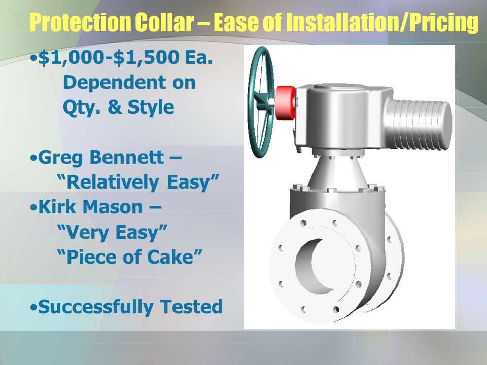 Protection Collar – Ease of Installation/Pricing