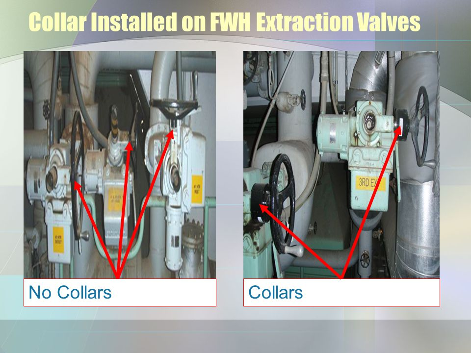 Collar Installed on FWH Extraction Valves