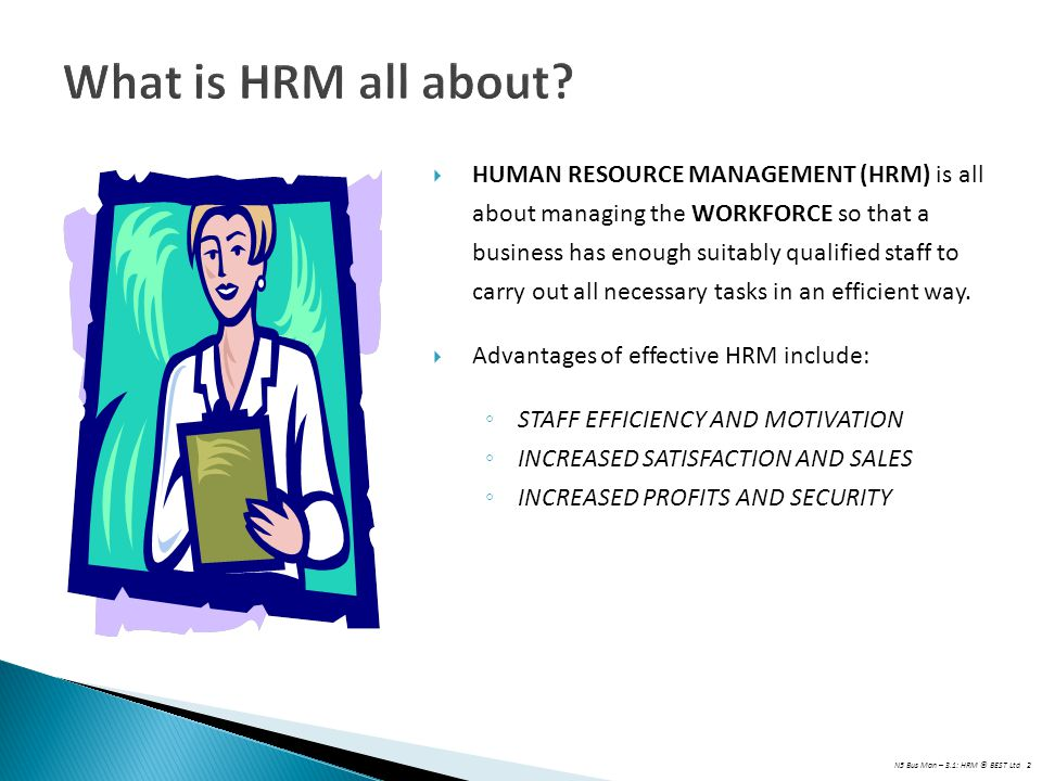 What is HRM all about