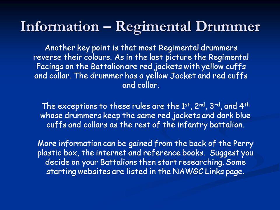 Information – Regimental Drummer