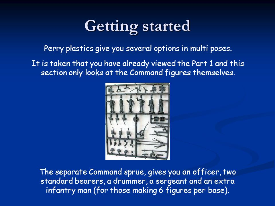 Perry plastics give you several options in multi poses.