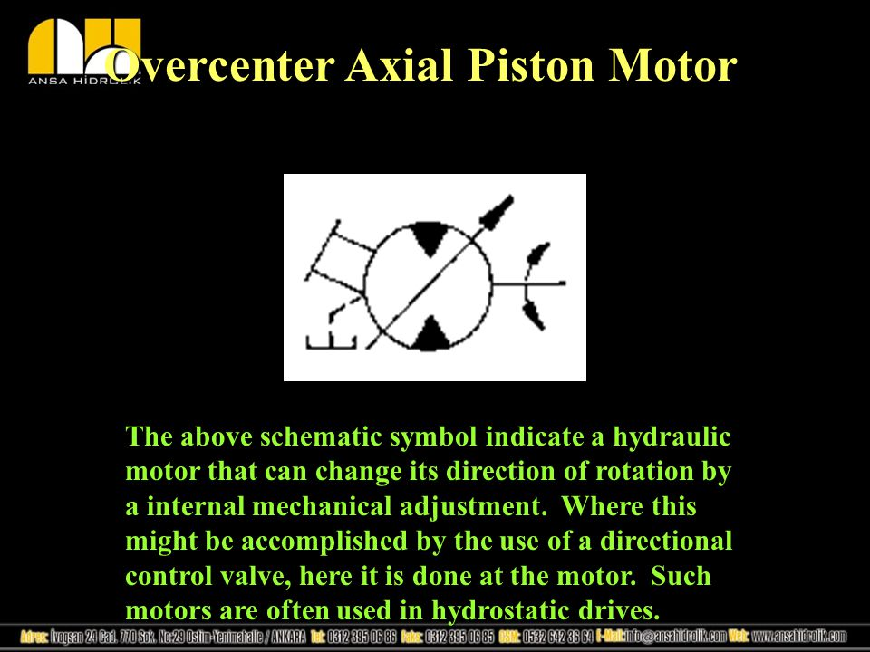 Overcenter Axial Piston Motor