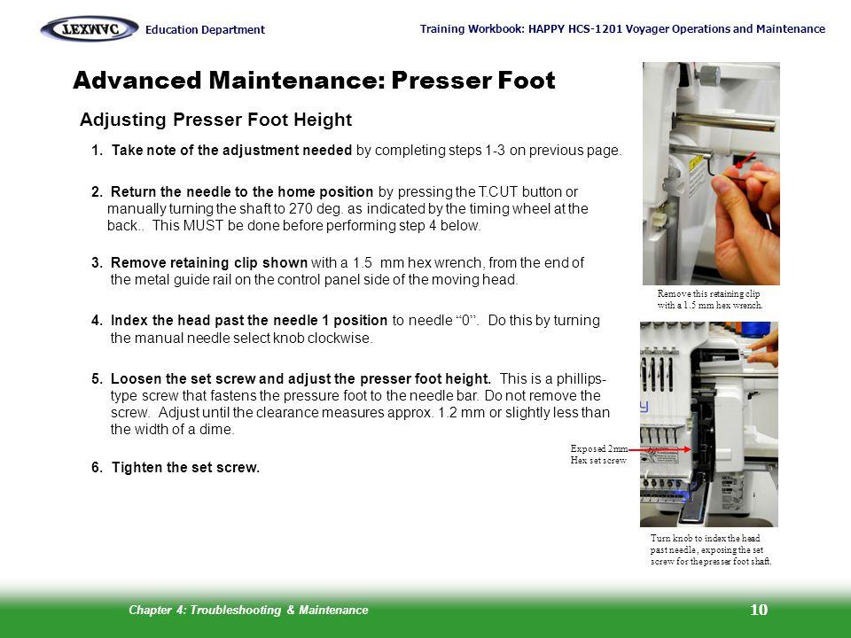 Advanced Maintenance: Presser Foot