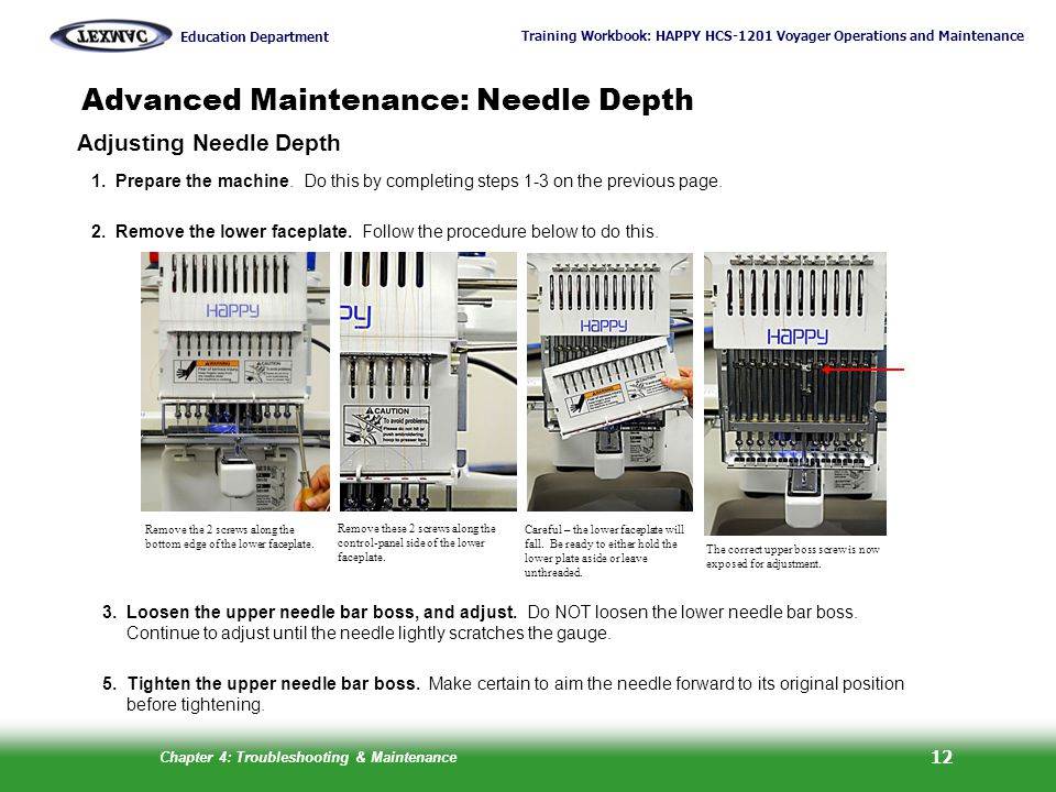 Advanced Maintenance: Needle Depth